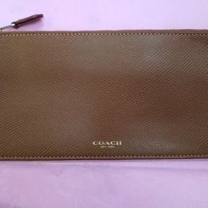 Coach zippered pouch